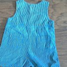 Faded Glory baby boy's blue and white striped romper 6-9 mos