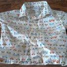 Gymboree baby boy's off white trucks prints short sleeve shirt 6-12 mos
