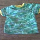 Baby boy's green camo short shirt 6-9 mos