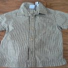 Koala Kids baby boy's green and blue plaids short sleeve shirt 12 mos