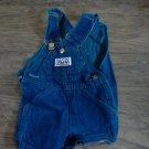 Liberty baby boy or girl dark blue demin short overall 18 mos