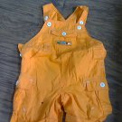 baby boy or girl orange short overall 3-6 mos