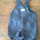 Carter's baby boy's navy  overall short 6 mos