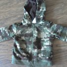 Garanimals baby boy green camo hooded sweater jacket 12 mos