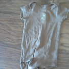 Carter's baby boy or girl brown bodysuit 12 mos