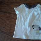 Carter's baby boy's off white  short sleeve shirt 6- 9 mos
