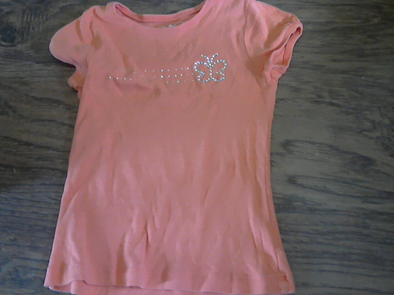 Carter's girl's orange short sleeves  top 7/8