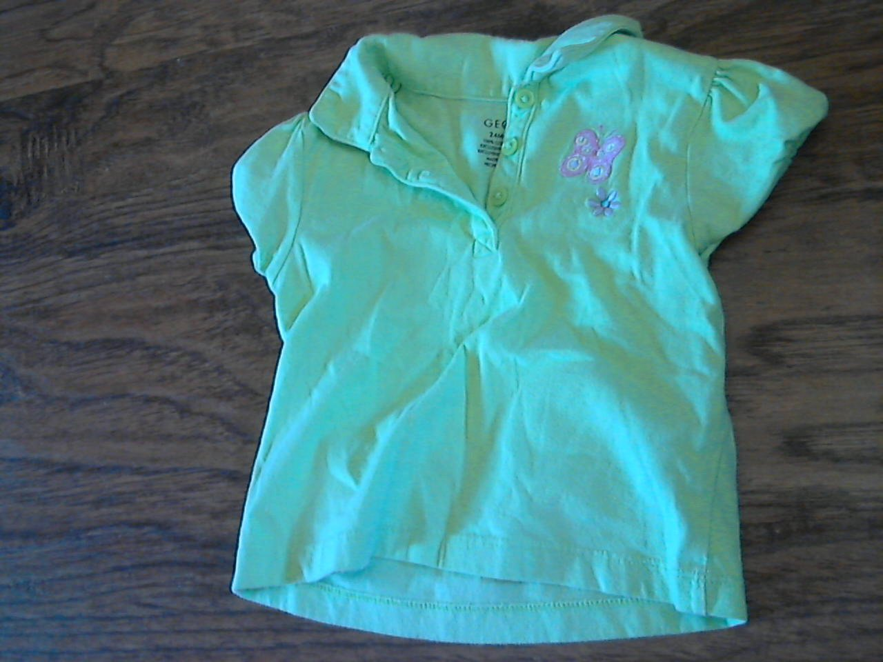 George baby girl's green short sleeve shirt 24 mos