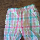 Girl's pink,yellow, blue, white plaids short 3T