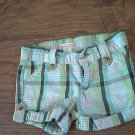 Old Navy toddler girls blue and green plaids short 3T