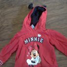 Dinsey baby girl's red hooded mickey mouse sweater 24 mos