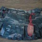 New Fire Jean Girl's black camo skirt size 3