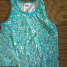 S 6/6x Girl's blue floral print tank