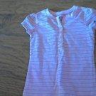 Faded Glory girl's stretch purple striped short sleeve shirt 5T
