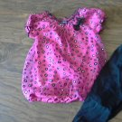 George toddler girl's hot pink and black short sleeve shirt pant set 3T