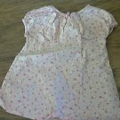 The Children Place baby girl's pink floral prints short sleeve shirt 6-9 mos