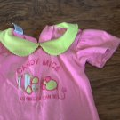 Fisher Price baby girl's pink short sleeve shirt 3/6 mos