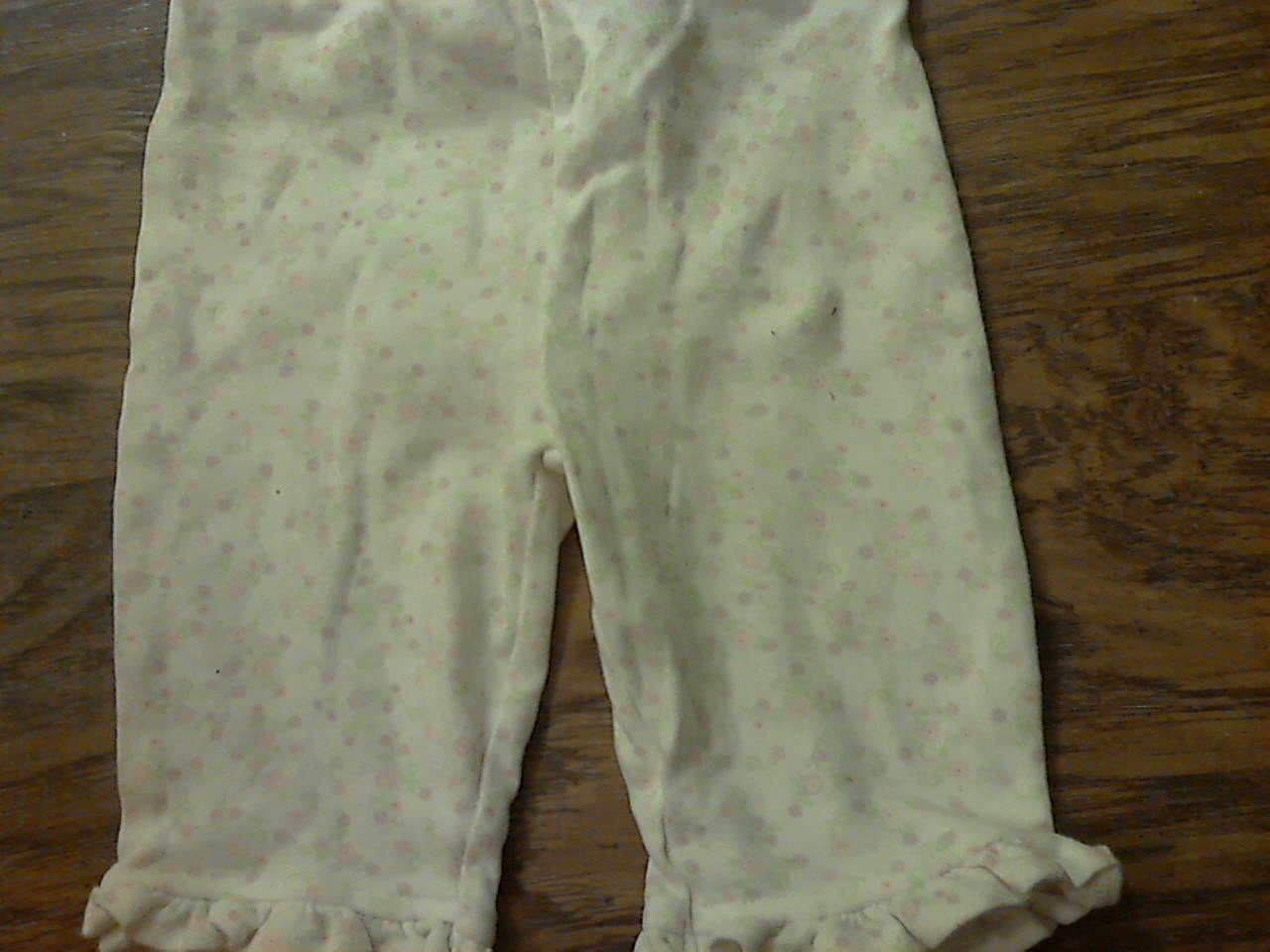 Carter's baby girl's white floral print elastic waist pant 3-6 mos