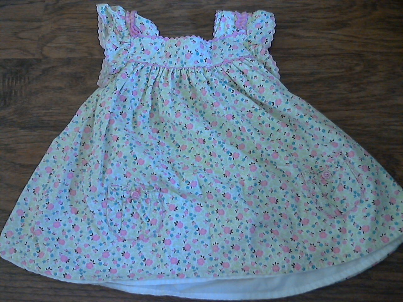 Savannah toddler girl's pink floral short sleeve dress 3T