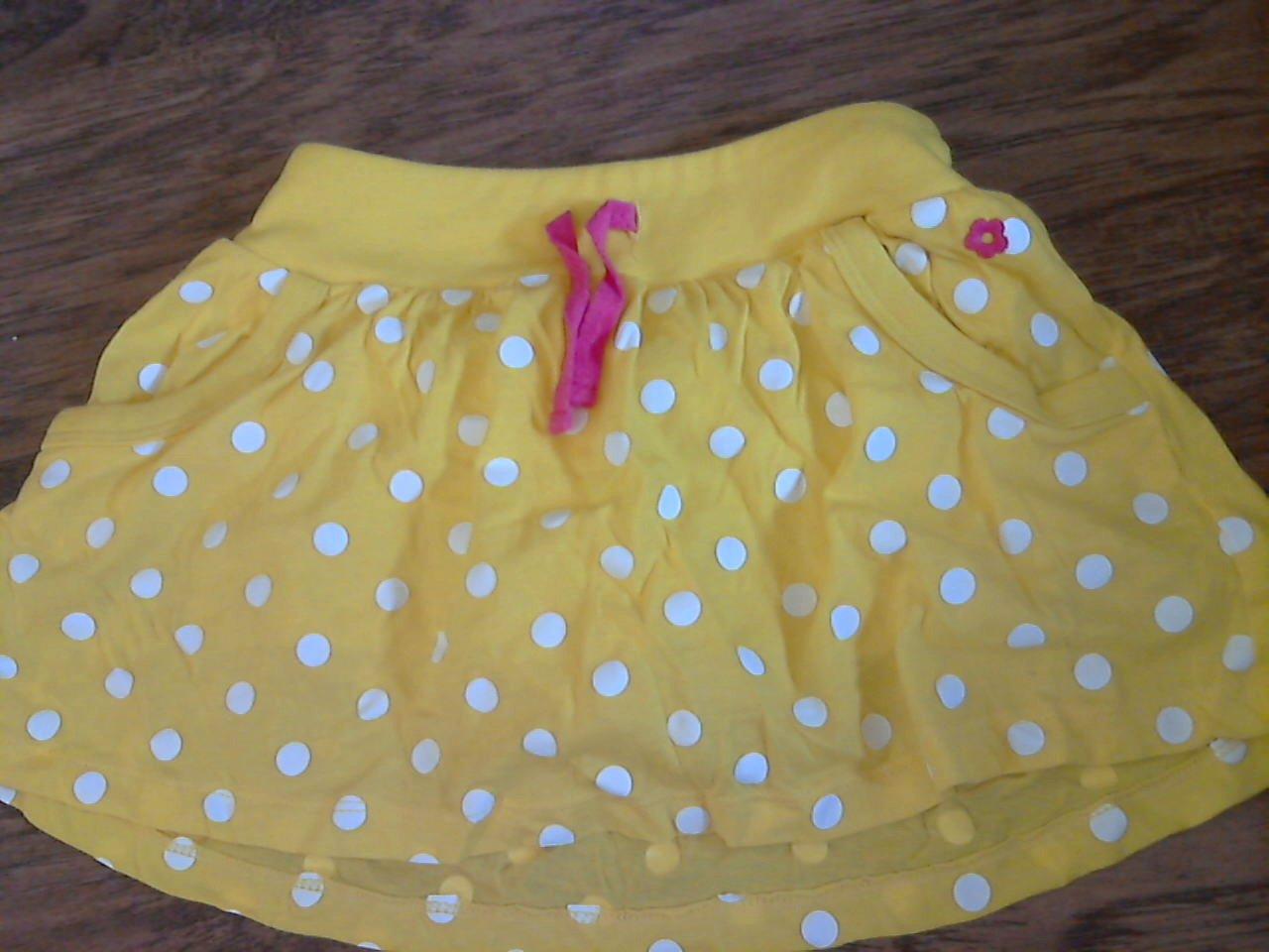 Carter's toddler girl's yellow waistband skirt 4T