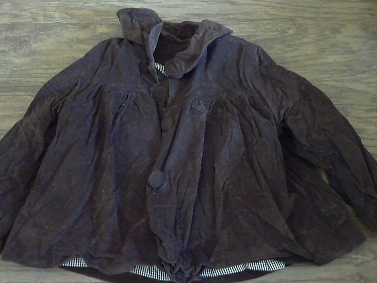 Kelly's kids girl's brown long sleeve sweater jacket 3-4 T