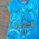 Knit Works toddler girls blue short sleeve shirt 4T