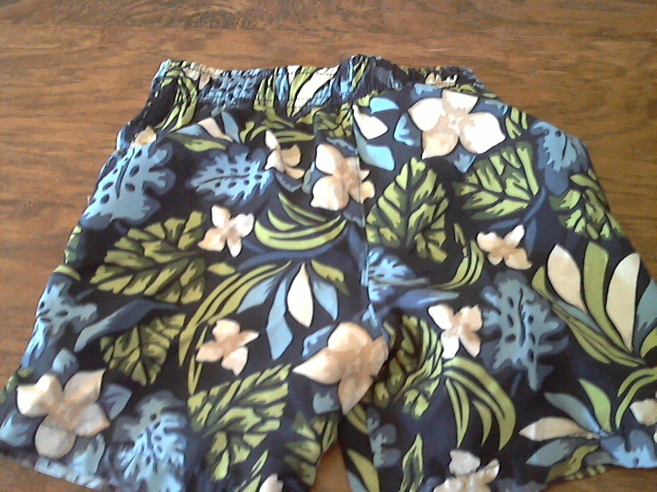 Max Grey baby boy blue hawaii elastic waist short 12-18 mos