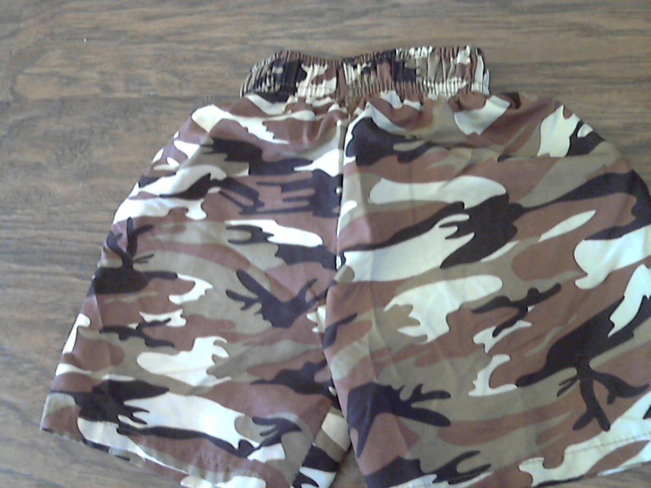 Max Grey baby boy's brown camo elastic waist short 12-18 mos