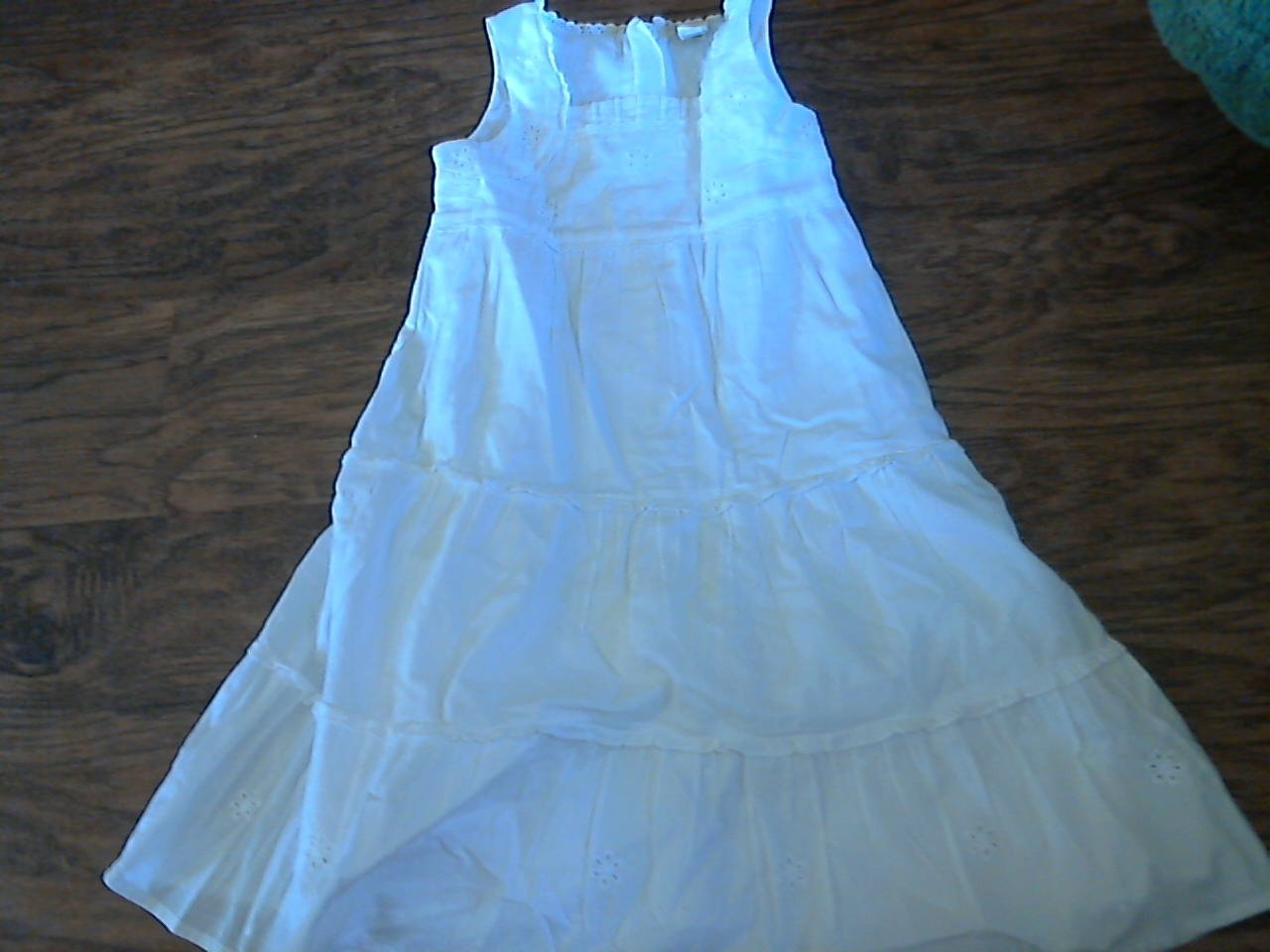 Gap girl's white beach photo long dress 3T