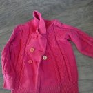 Gymboree toddler girl's red long sleeve knitted sweater jacket XS (3-4)