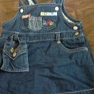 Okhkosh baby girl's denim overall skirt 12 mos