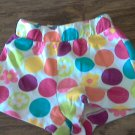 Circo toddler girl's purple, red, coral , yellow dots short 3T