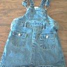 Wonder Kids girl's denim blue overall skirt 2T
