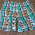 Thomas & Friends baby boy's blue and brown plaid short 12 mos
