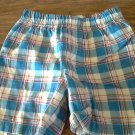 Baby boy's blue plaid elastic short 12 mos