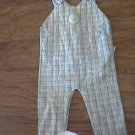 Mc baby boy's blue and green plaids overall 6-9 mos