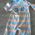 Carter's baby boy's orange and gray stripe long sleeve outfit 18 mos