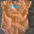 Carter's baby boy's orange short sleeve bodysuit 9 mos