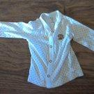 Carter's baby girl's white long sleeve shirt 6 mos