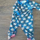 Small Paul baby boy's blue monkeys print sleepwear/outfit 9 mos