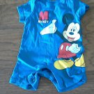 Dinsey baby boy's Mickey Mouse short sleeve bodysuit 3-6 mos