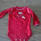 Carter's baby boy or girl red long sleeve bodysuit 6-9 mos