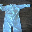 Small Steps baby boy or girl white and yellow stripe sleepwear/outfit 6-9 mos