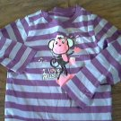 Okie Dokie girl's purple stripe shirt 4T