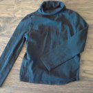 George girl's black turtleneck long sleeve shirt s/ch (6/6x