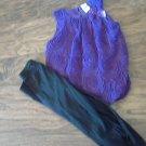 Healthtex girl's royal purple sleeveless top legging set 4T