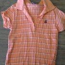 Rue21 girl's orange stripped short sleeve shirt Large