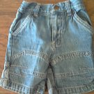 Faded Glory baby girl's blue stretch short 12 mos