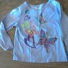 Garanimals baby girl's purple butterfiles long sleeve shirt 18 mos