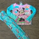 Disney girl's blue Minnie sleepwear set 3T